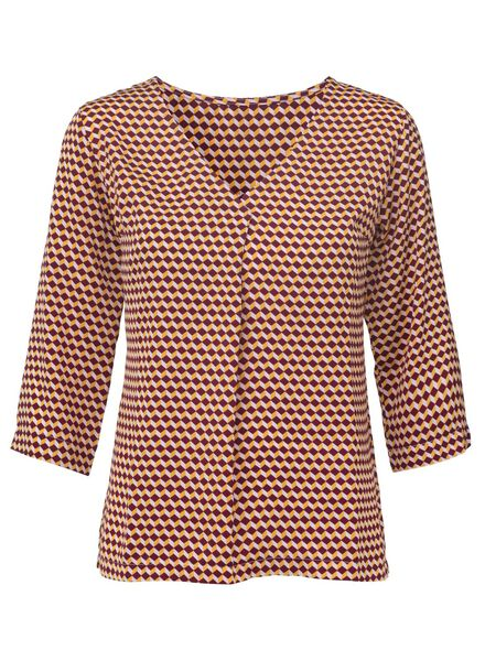 dames top donkerrood donkerrood - 1000011881 - HEMA