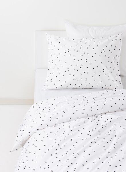kinderdekbedovertrek - zacht katoen - 140 x 200 cm - wit sterren - 5750101 - HEMA