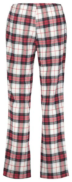 damespyjama flanel rood rood - 1000021715 - HEMA