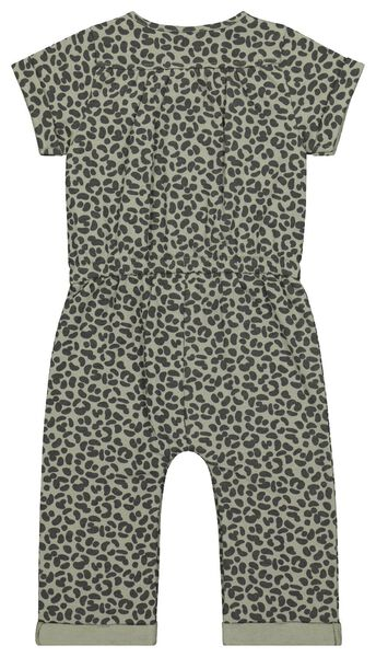 baby jumpsuit sweat animal groen 68 - 33008042 - HEMA