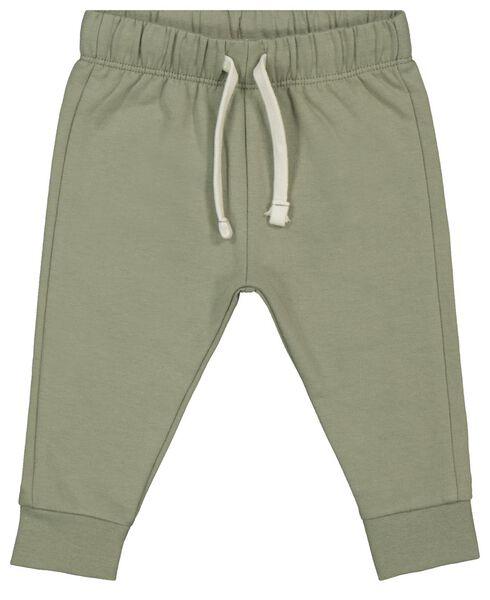 baby sweatbroek groen 56 - 33103942 - HEMA