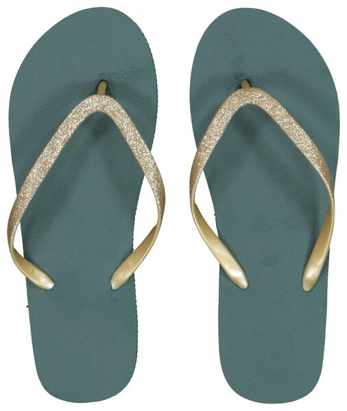 dames teenslippers groen 39/40 - 34870102 - HEMA