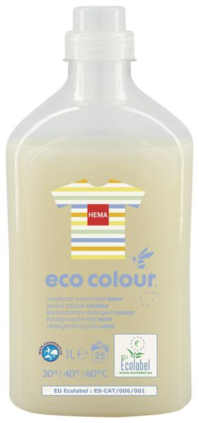 eco vloeibaar wasmiddel kleur 1L - 20510046 - HEMA