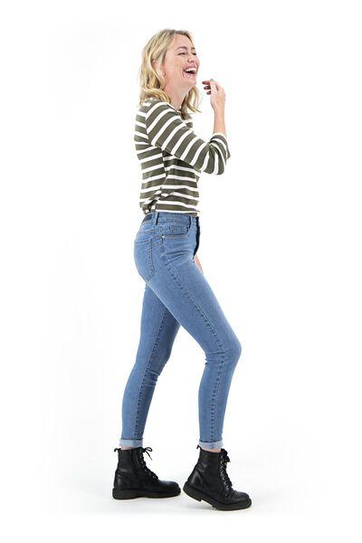 dames jeans - shaping skinny fit lichtblauw lichtblauw - 1000018248 - HEMA