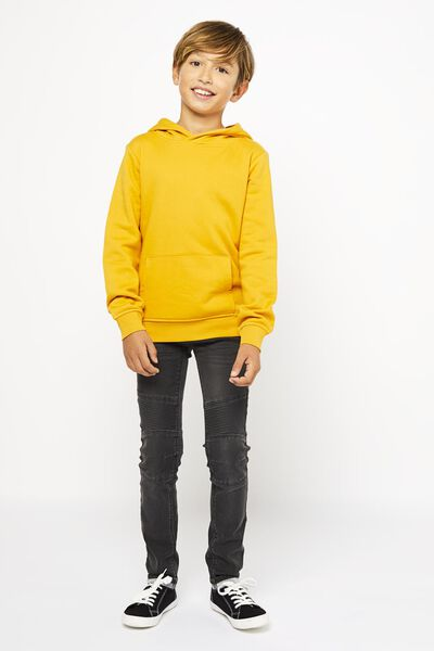 kinder jeans skinny fit donkergrijs donkergrijs - 1000021472 - HEMA
