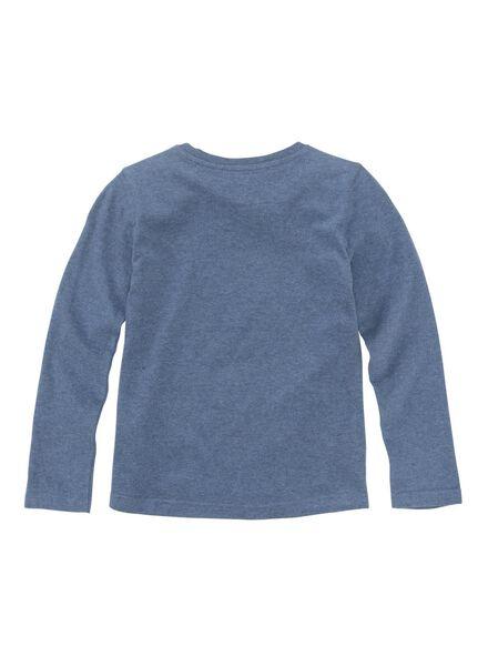 kinder t-shirt middenblauw middenblauw - 1000011191 - HEMA