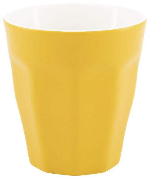 mok - 250 ml - Mirabeau mat - geel - 9602208 - HEMA