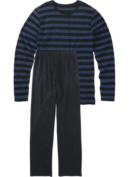 herenpyjama donkerblauw donkerblauw - 1000011524 - HEMA