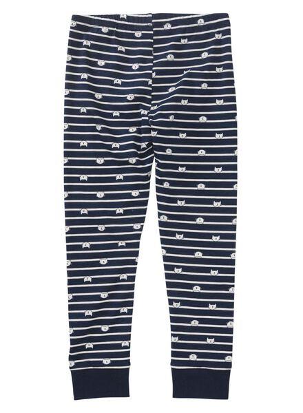 kinderpyjama donkerblauw donkerblauw - 1000011149 - HEMA