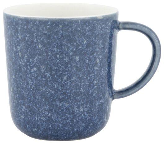 koffiemok Chicago 130 ml - reactief glazuur - blauw - 9602156 - HEMA