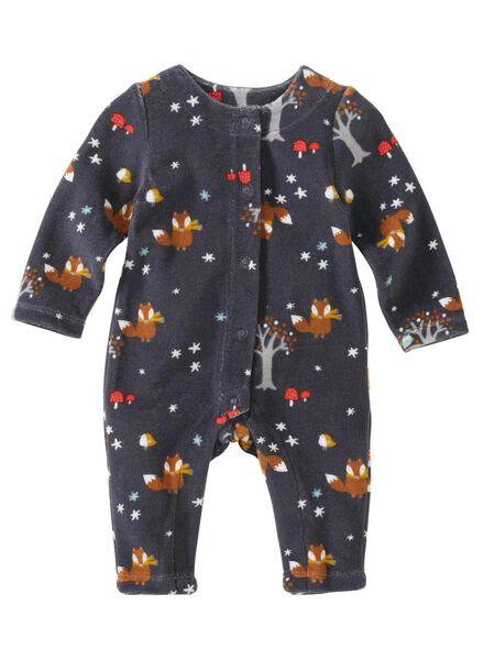 baby jumpsuit bamboe donkergrijs donkergrijs - 1000011483 - HEMA