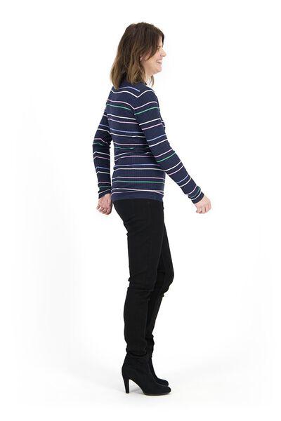 damestrui rib donkerblauw donkerblauw - 1000017535 - HEMA