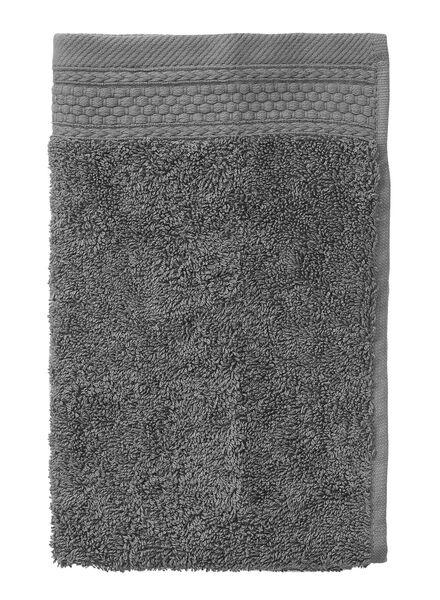 gastendoek - 30 x 55 cm - hotelkwaliteit - donkergrijs donkergrijs gastendoekje - 5205015 - HEMA
