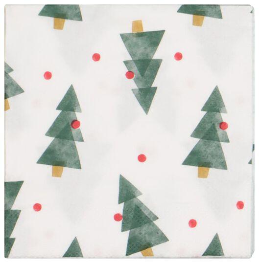 servetten 24x24 papier - kerstbomen - 20 stuks - 25600157 - HEMA