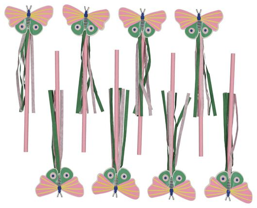 toverstafje 20cm vlinder - 8 stuks - 14200428 - HEMA
