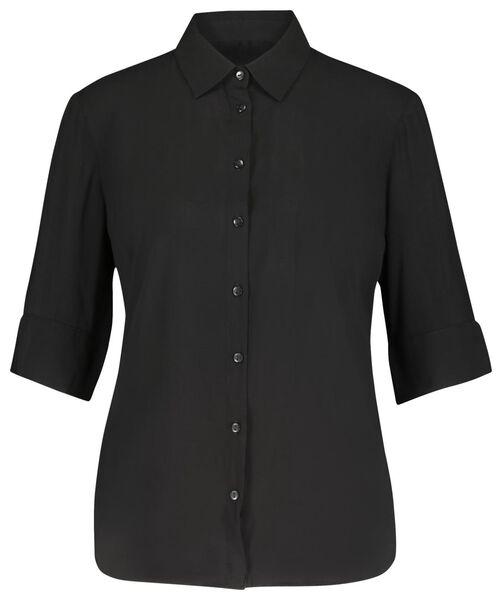 damesblouse zwart zwart - 1000019886 - HEMA