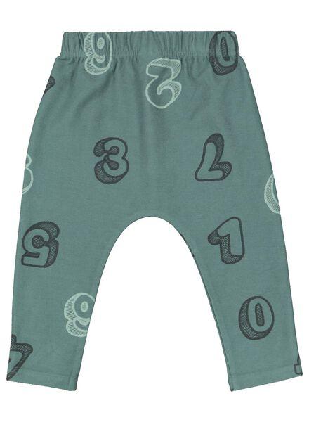 baby sweatbroek groen groen - 1000015293 - HEMA