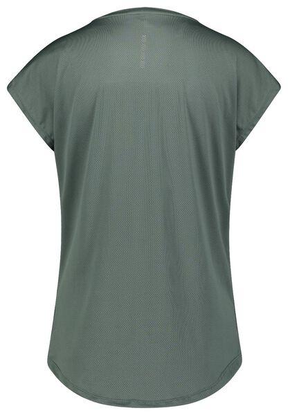 dames sport t-shirt mesh groen XXL - 36080465 - HEMA