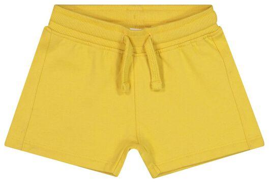 baby sweatshort geel 86 - 33126406 - HEMA