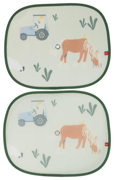 autozonnescherm opvouwbaar 38x45 boerderij - 2 stuks - 41700012 - HEMA