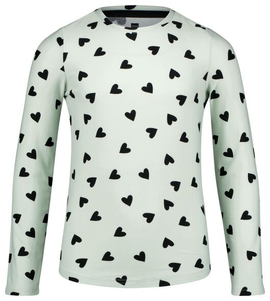 kinderpyjama hartjes micro lichtblauw lichtblauw - 1000025324 - HEMA