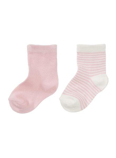 2-pak babysokken roze roze - 1000006448 - HEMA