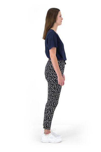 dames t-shirt met bamboe donkerblauw donkerblauw - 1000019193 - HEMA