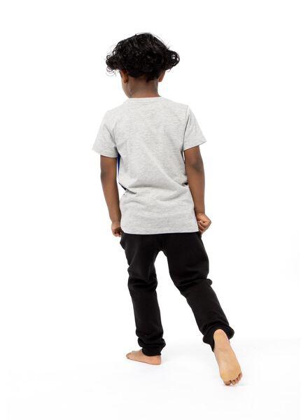 kinder t-shirt grijsmelange grijsmelange - 1000013776 - HEMA