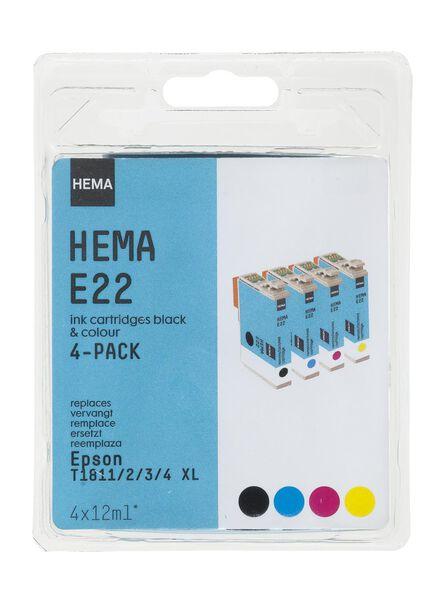 E22 vervangt de Epson T1811/2/3/4 XL - 38320004 - HEMA
