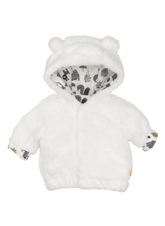 newborn jas gebroken wit