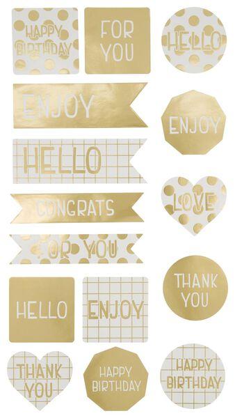 stickers goud - 15 stuks - 14700455 - HEMA