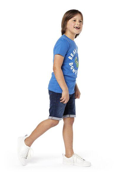 kinder jog denim short donkerdenim donkerdenim - 1000018917 - HEMA