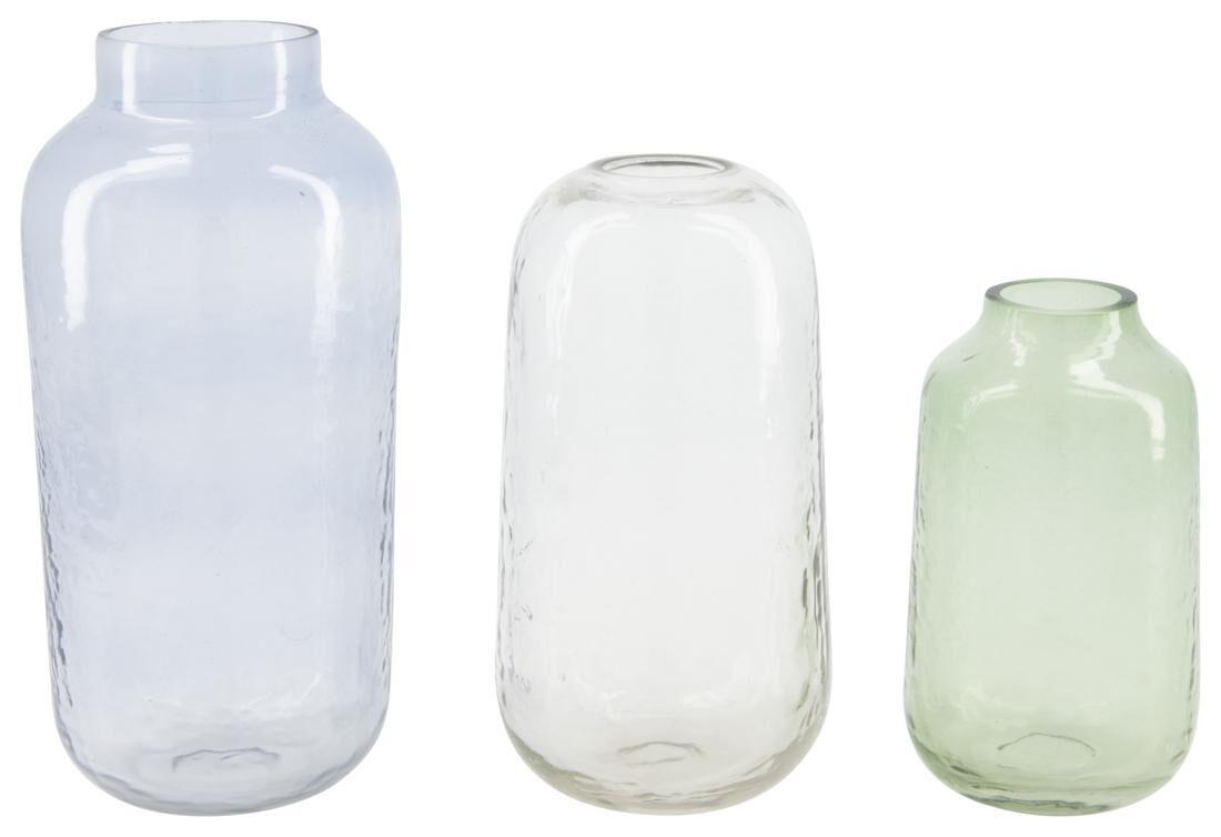 HEMA Vazen - Gerecycled Glas - Blauw - 3 Stuks (blauw)