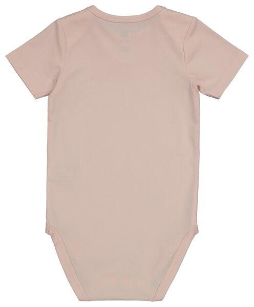 romper organic katoen stretch roze 86/92 - 33320624 - HEMA