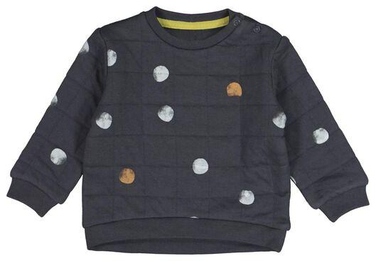 baby sweater gevoerd stip donkergrijs donkergrijs - 1000021387 - HEMA