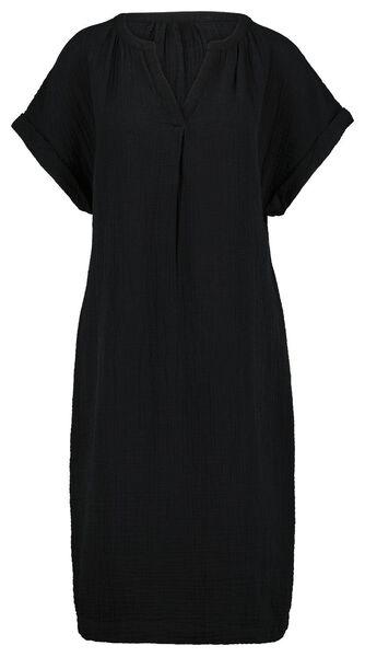 damesjurk zwart zwart - 1000024341 - HEMA
