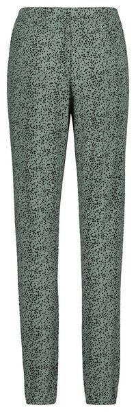 dames pyjamabroek groen groen - 1000019773 - HEMA