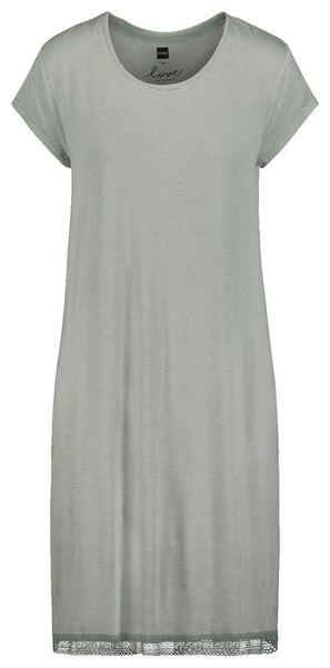 damesnachthemd lichtgroen S - 23473871 - HEMA
