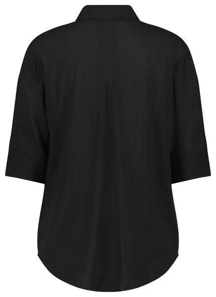 damesblouse zwart XL - 36364794 - HEMA