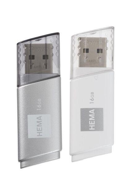 2-pak USB-stick 16GB - 39520005 - HEMA