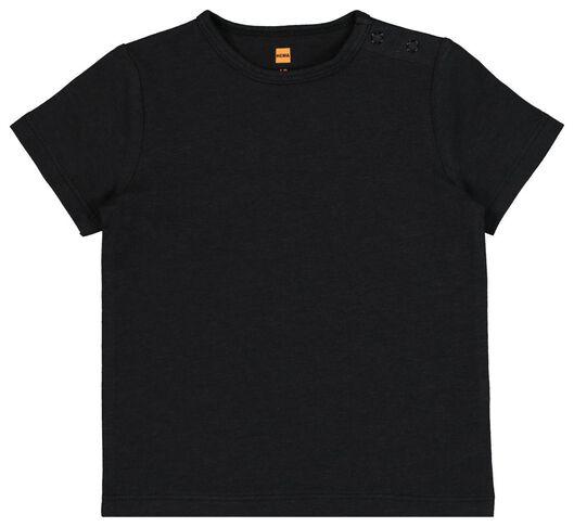 baby t-shirt met bamboe zwart zwart - 1000019339 - HEMA