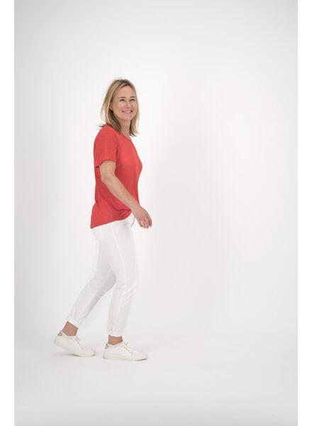 dames t-shirt linnen rood - 1000013720 - HEMA