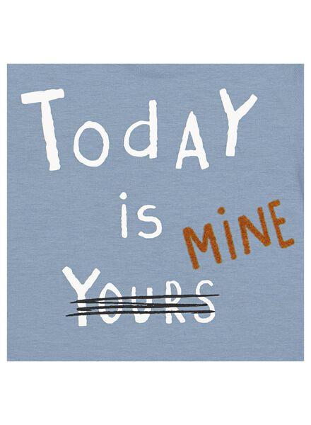 newborn t-shirt - organic katoen stretch - today is mine blauw blauw - 1000013858 - HEMA