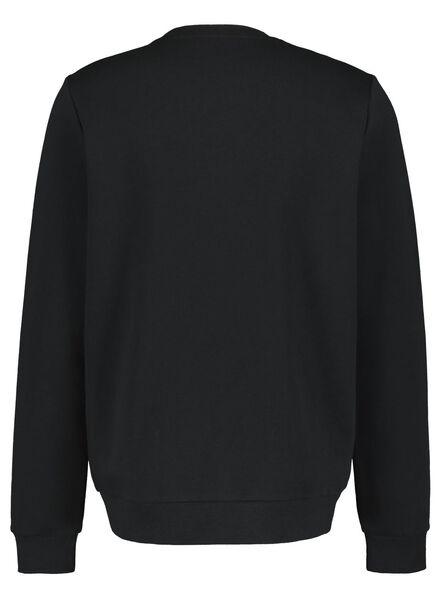 herensweater zwart zwart - 1000016955 - HEMA