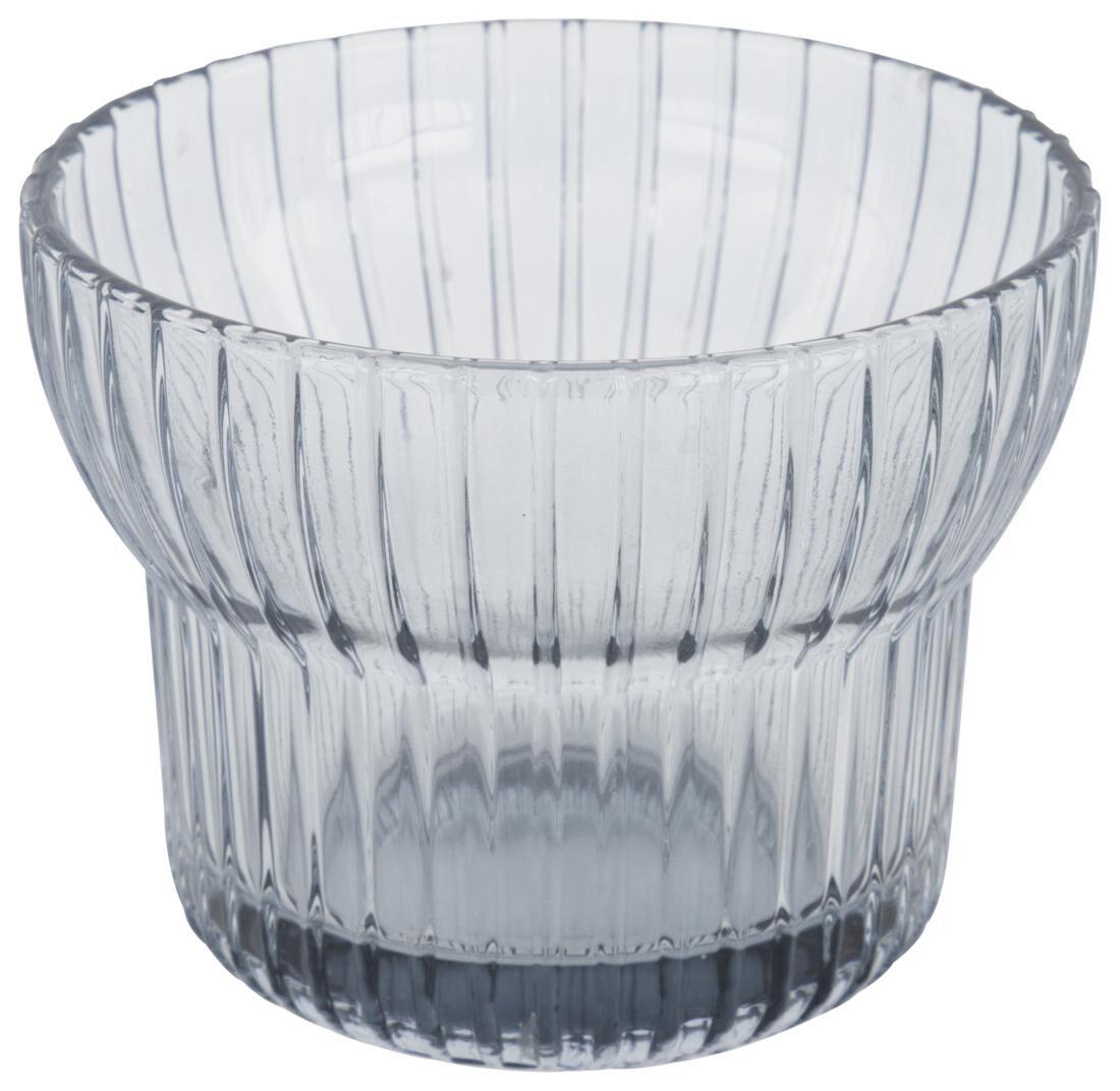 HEMA Waxinelichthouder Ø10x7.5 - Glas Grijs (grijs)