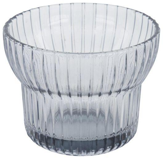 waxinelichthouder Ø10x7.5 - glas grijs - 13322049 - HEMA
