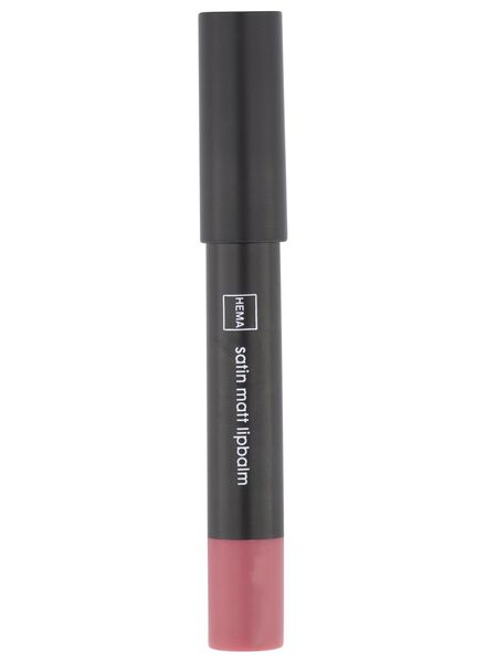 satin matt lipbalm 13 rose - 11230313 - HEMA