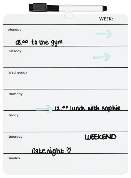 whiteboard weekplanner - A4 - 14822215 - HEMA