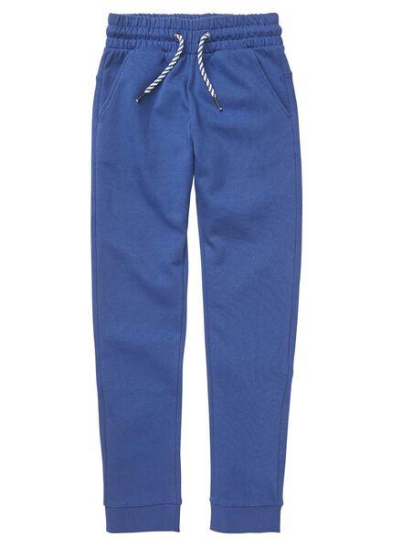 kinder sweatbroek middenblauw middenblauw - 1000008663 - HEMA