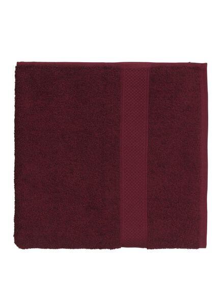 handdoek - 70 x 140 cm - zware kwaliteit - bordeaux - 5220006 - HEMA